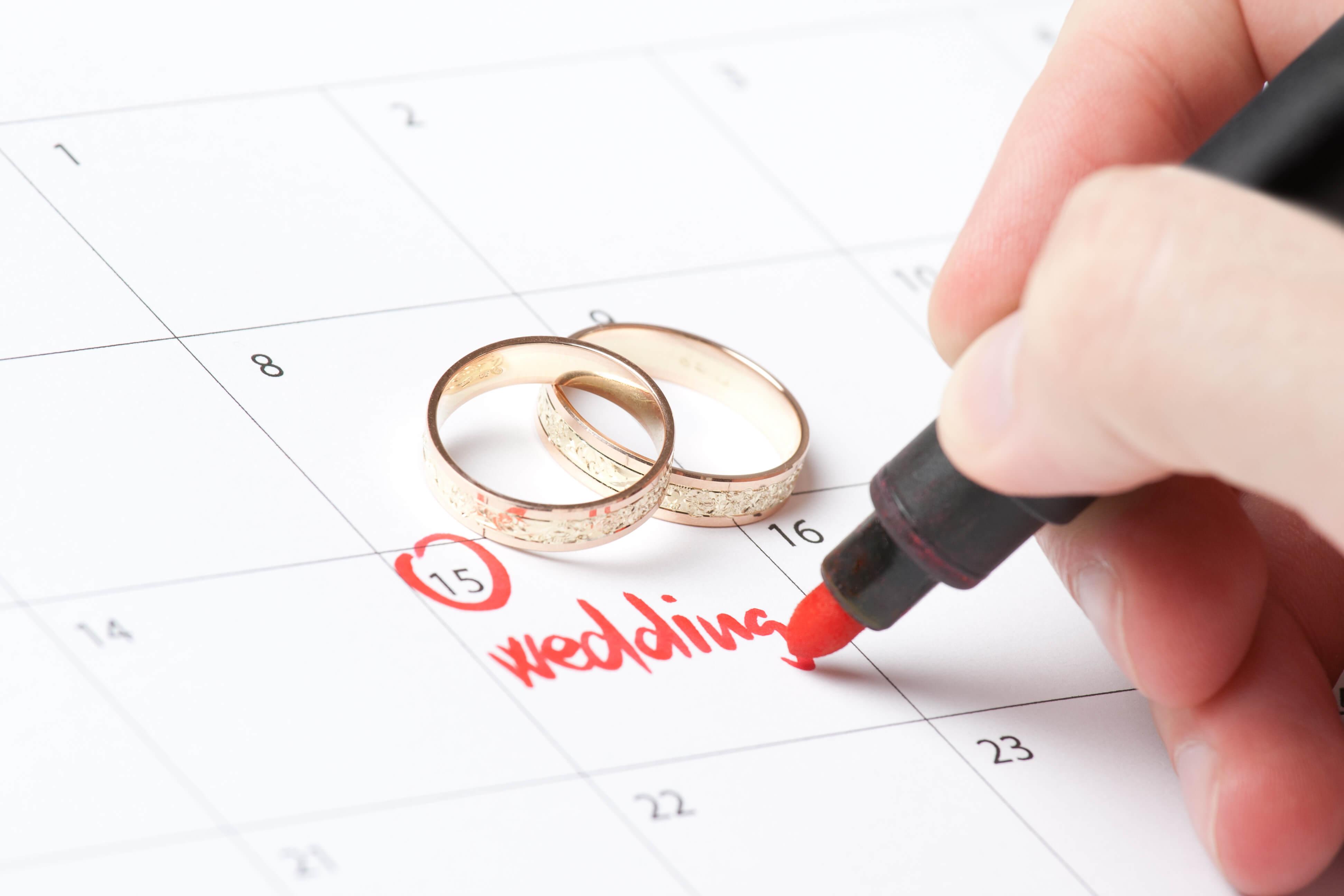 data de casamento